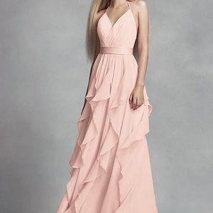 White by Vera Wang Chiffon bridesmaid dress